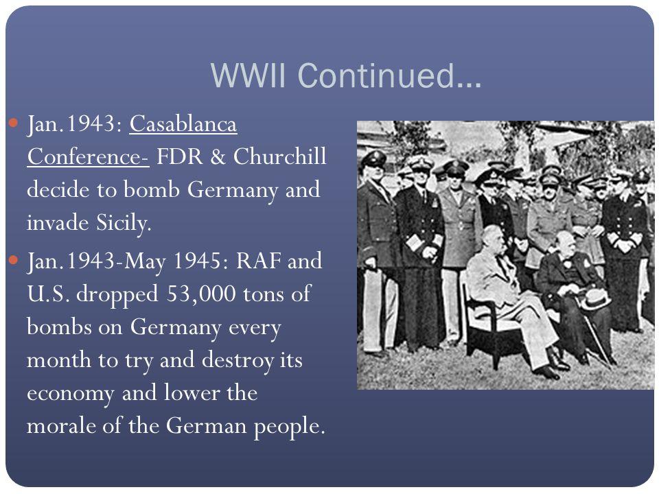 Operation Husky July 10, 1943: Allies invade Sicily.