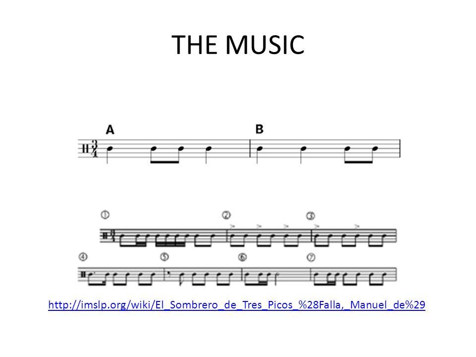 THE MUSIC http://imslp.org/wiki/El_Sombrero_de_Tres_Picos_%28Falla,_Manuel_de%29