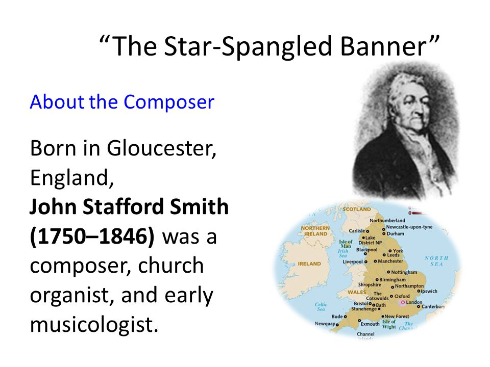 About the Lyricist Born and raised in western Maryland, Francis Scott Key (1779–1843).