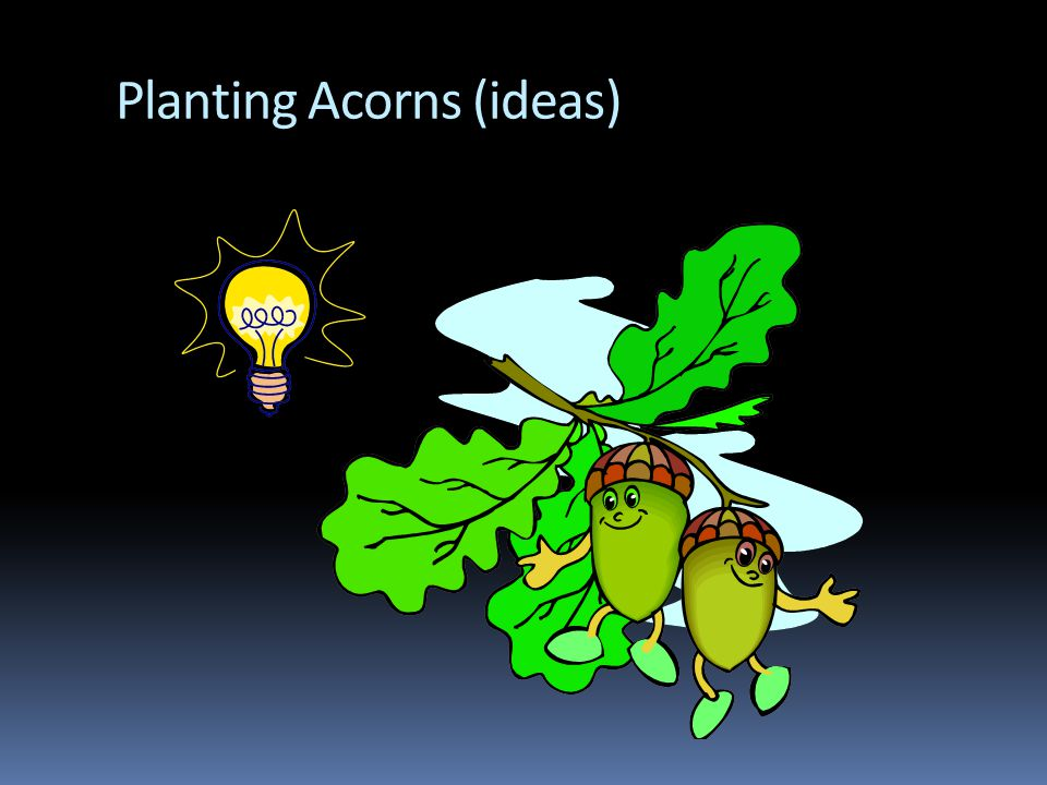 Planting Acorns (ideas)