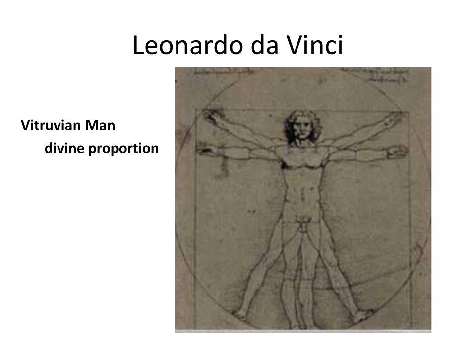 Leonardo da Vinci Vitruvian Man divine proportion