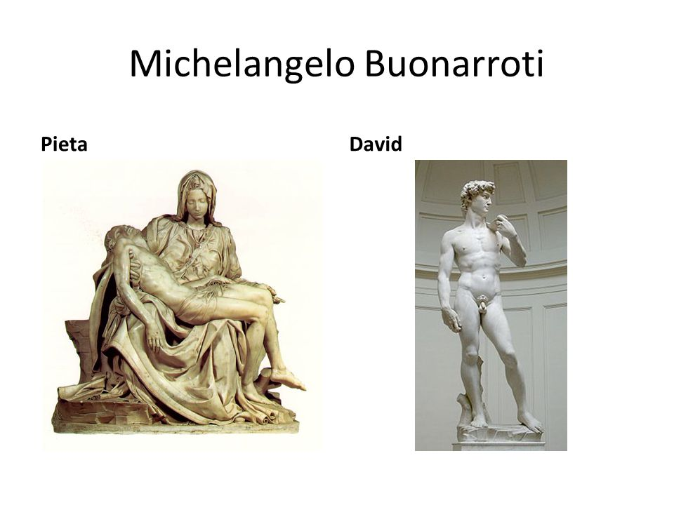 Michelangelo Buonarroti PietaDavid