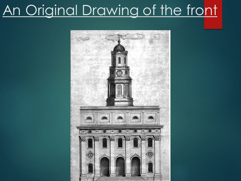 An Original Drawing of the front