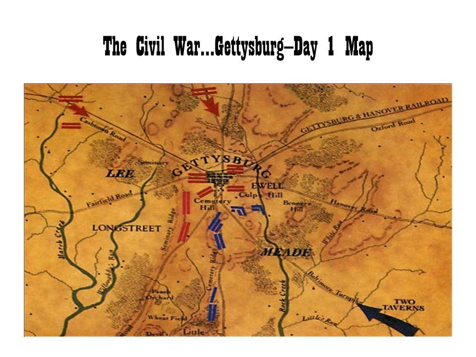 The Civil War…Gettysburg—Day 1 Map