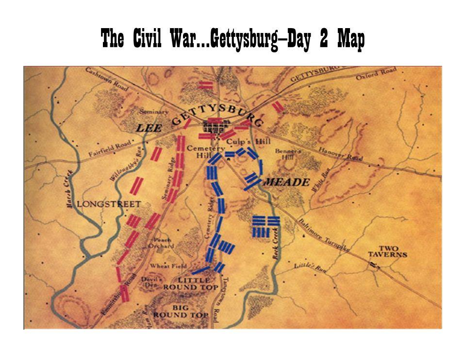 The Civil War…Gettysburg—Day 2 Map