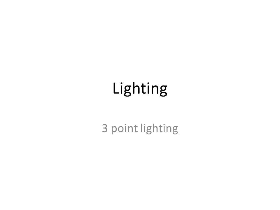 Lighting 3 point lighting