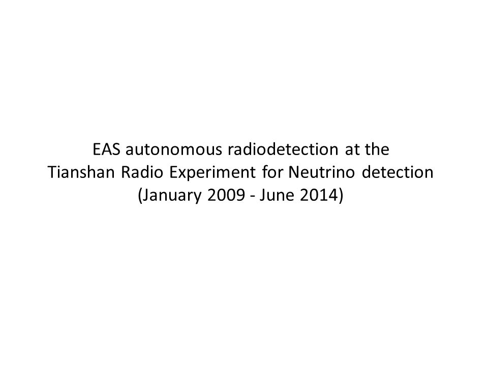 EAS autonomous radiodetection at the Tianshan Radio Experiment for Neutrino detection (January 2009 - June 2014)