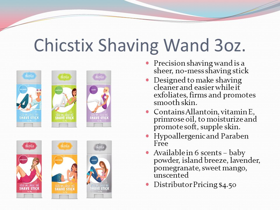 Chicstix Shaving Wand 3oz. Precision shaving wand is a sheer, no-mess shaving stick Designed to make shaving cleaner and easier while it exfoliates, f