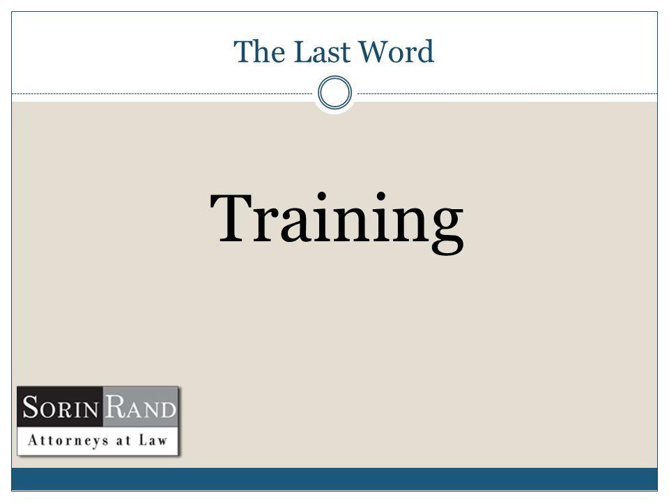 The Last Word Training