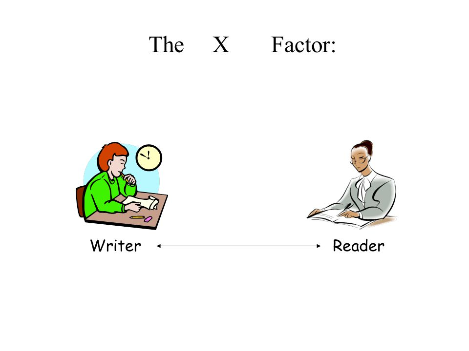 Writer Reader The anXiety Factor: