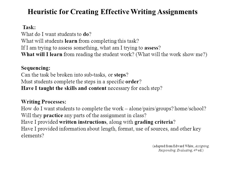 Task: What do I want students to do. What will students learn from completing this task.
