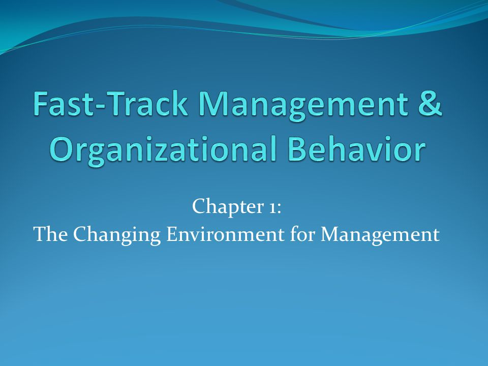 This chapter will discuss: Understanding the concept of management Appreciating what managers do & why it is important Considering the role of management in a global environment Being aware of the basic management functions of planning, decision-making, organizing, leadership & controlling