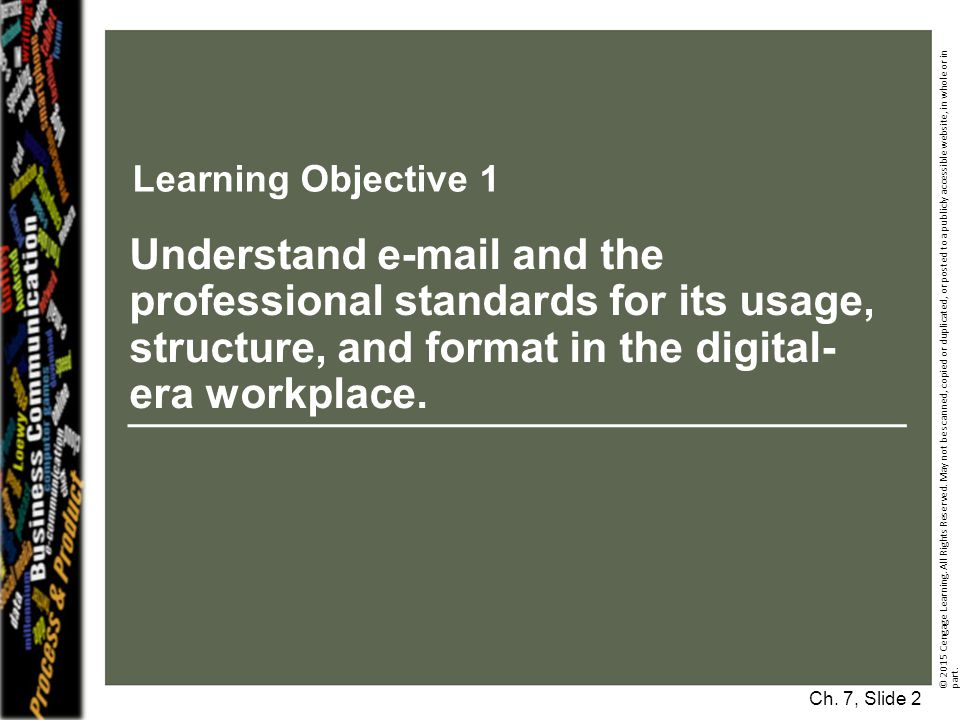 Learning Objective 1 © 2015 Cengage Learning.All Rights Reserved.