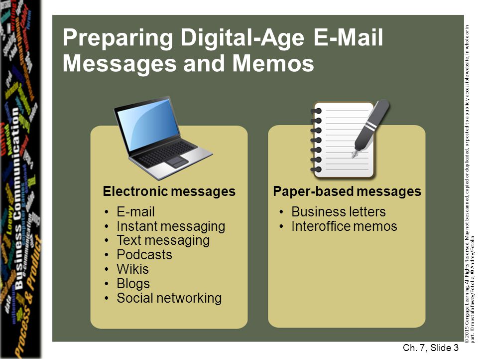 Preparing Digital-Age E-Mail Messages and Memos Ch.