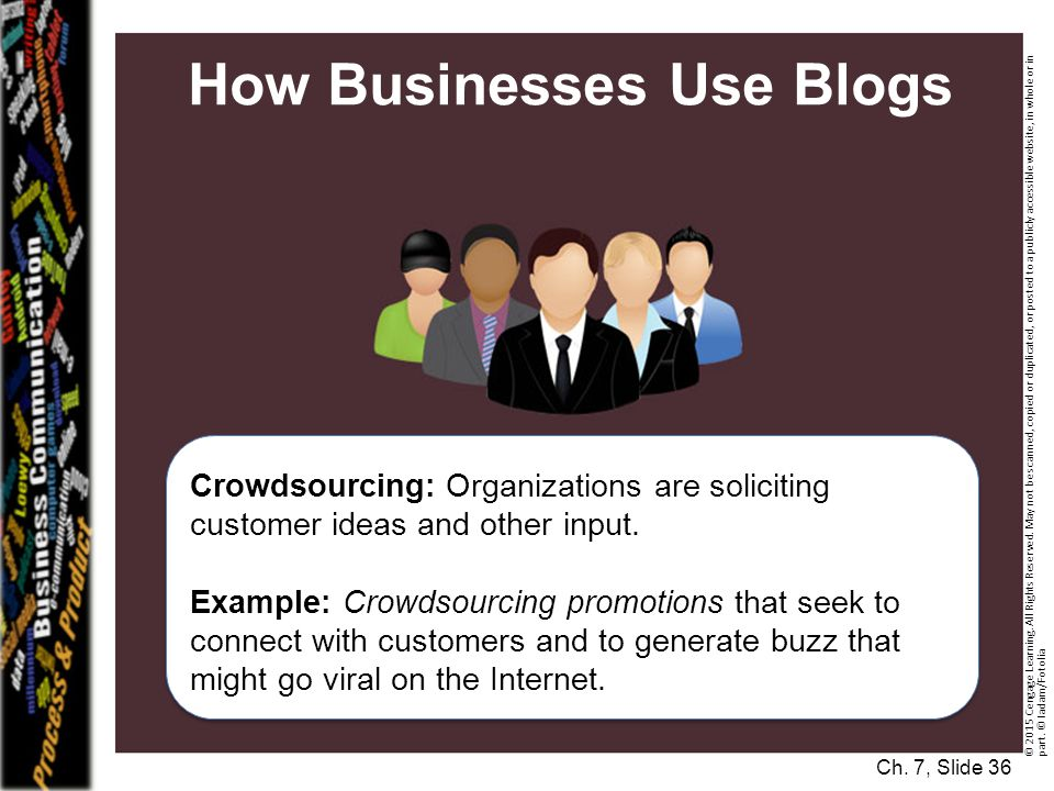 How Businesses Use Blogs Crowdsourcing: Organizations are soliciting customer ideas and other input.