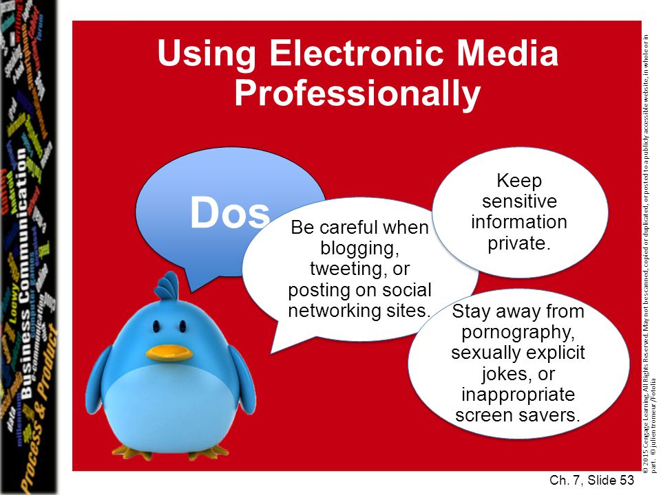Using Electronic Media Professionally Ch.