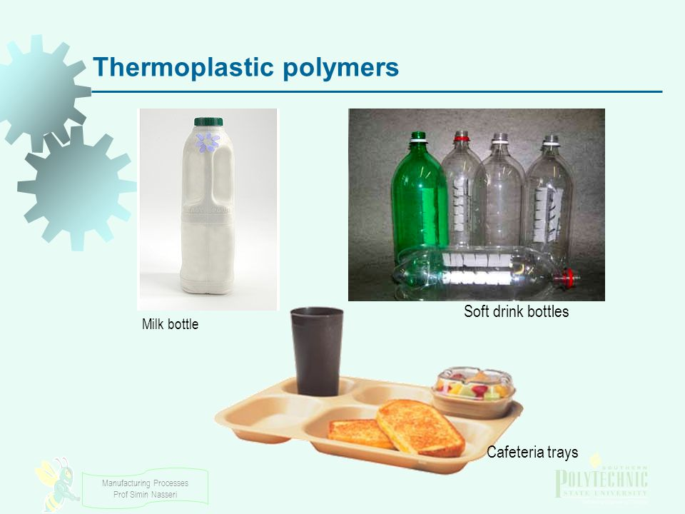 Manufacturing Processes Prof Simin Nasseri Thermosetting Polymers - Thermosets Cannot tolerate repeated heating cycles as thermoplastics can  When initially heated, they soften and flow for molding  Elevated temperatures also produce a chemical reaction that hardens the material into an infusible solid  If reheated, thermosets degrade and char rather than soften Symbolized by TS