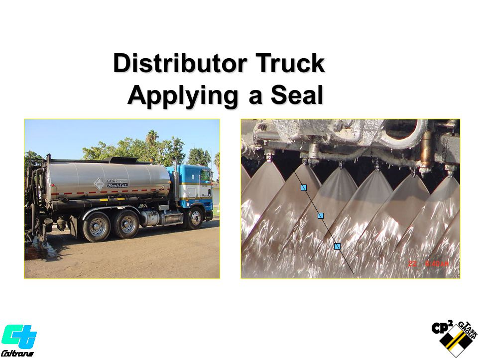 Distributor Truck Applying a Seal