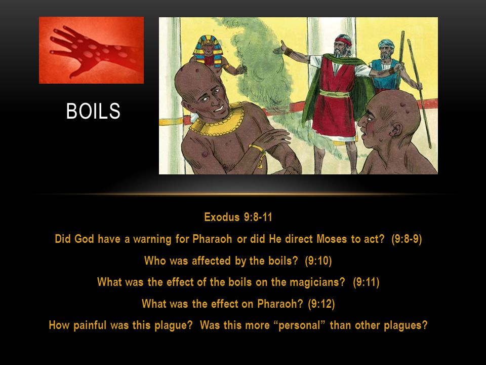 Exodus 9:8-11 Did God have a warning for Pharaoh or did He direct Moses to act.