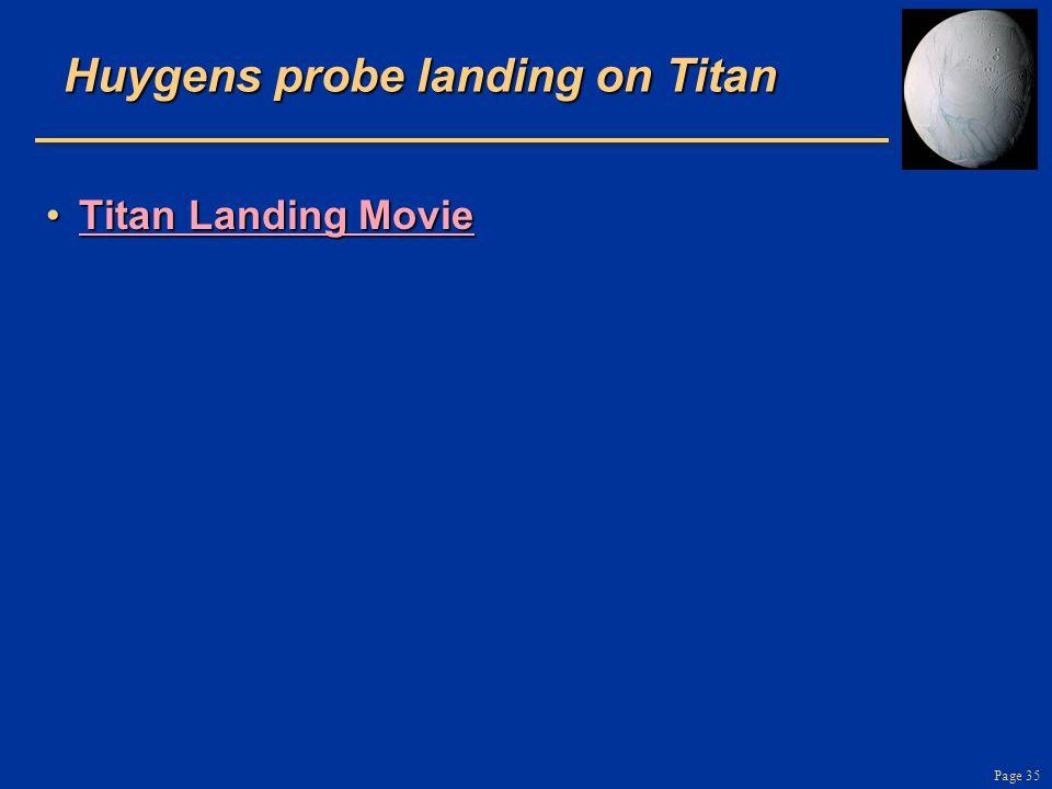 Page 35 Huygens probe landing on Titan Titan Landing MovieTitan Landing MovieTitan Landing MovieTitan Landing Movie