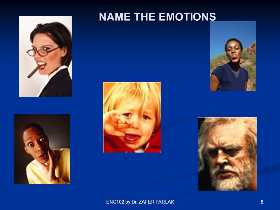 8 NAME THE EMOTIONS