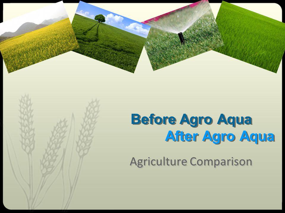 Before Agro Aqua After Agro Aqua Agriculture Comparison