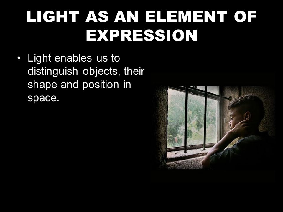 Hard light : –It comes from an intense focus of artificial or natural light.