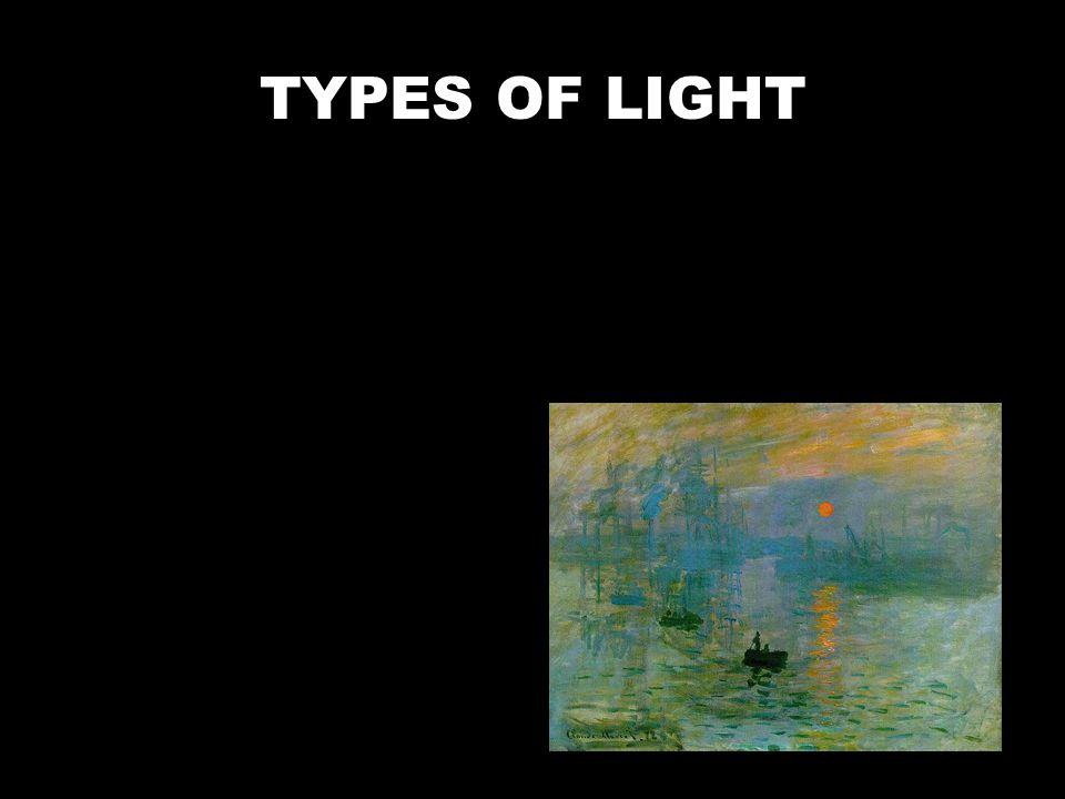 Natural Light. Sun, moon. TYPES OF LIGHT