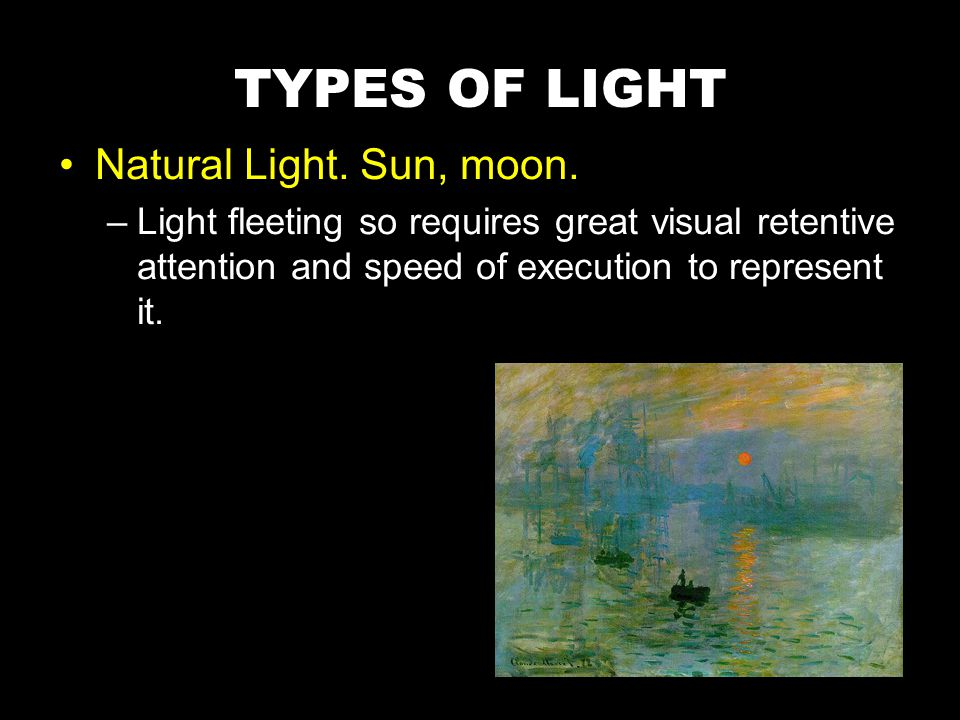 In both painting and photography we can choose the level of brightness.