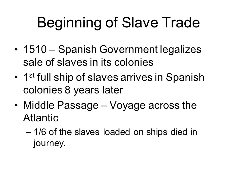 African Diaspora ( scattering of people) The forced removal of Africans for slave labor In the late 1800's 12 million Africans had been enslaved Triangle trade- between Europe, Africa and America 2 million died in the Middle Passage
