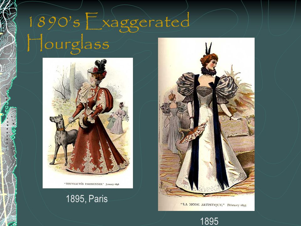 1890's Exaggerated Hourglass 1895, Paris 1895