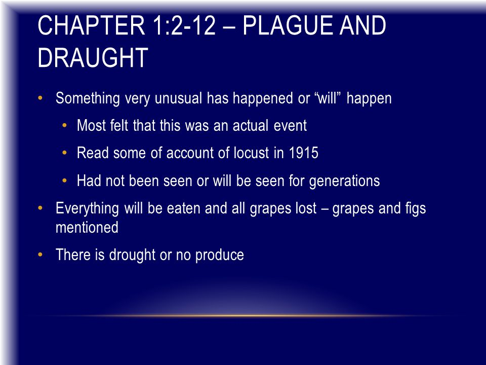 CHAPTER 8:11-14 Famine of God's Word