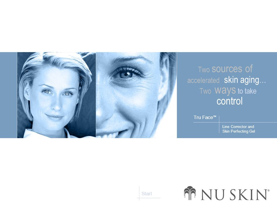 Line Corrector and Skin Perfecting Gel Tru Face ™ Start Two sources of accelerated skin aging...