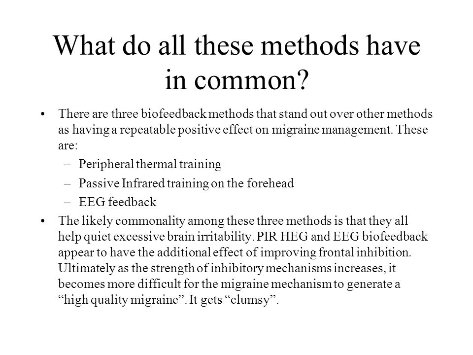 What do all these methods have in common.