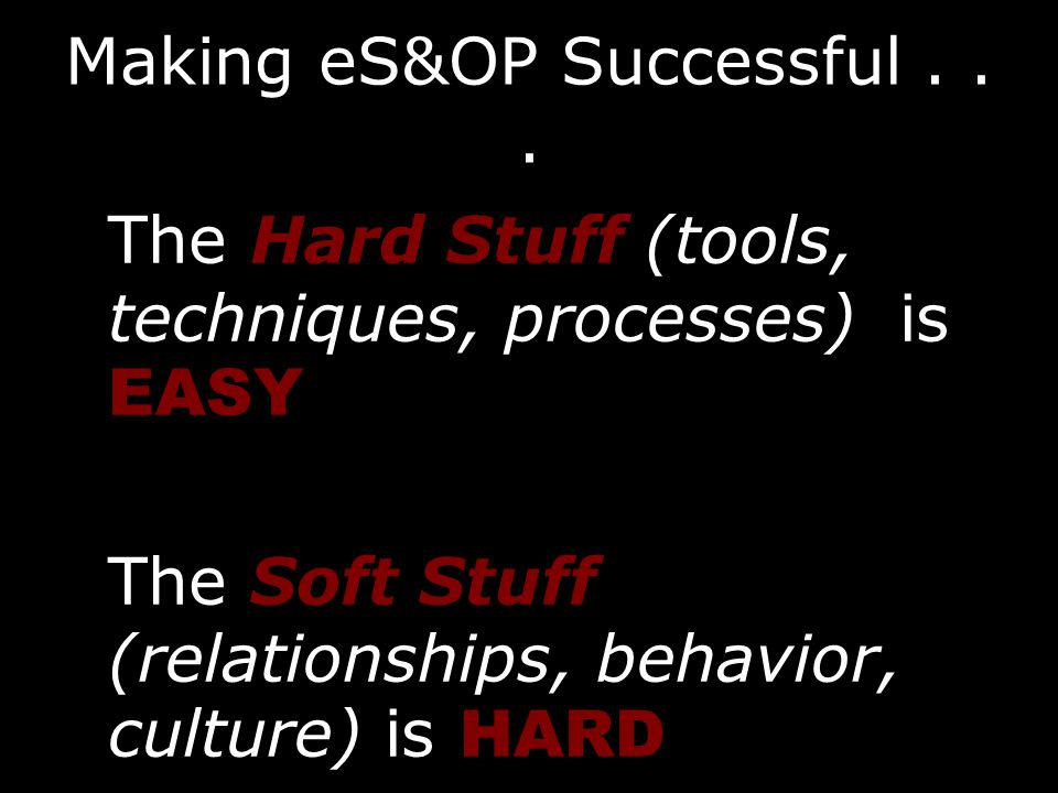 Making eS&OP Successful...