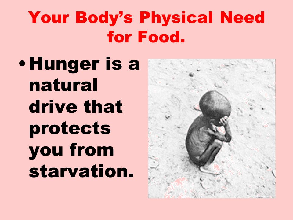 The most basic reason for eating is physical. Stimulated nerve ending in the stomach signal hunger.