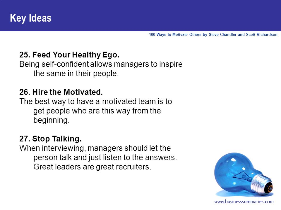 100 Ways to Motivate Others by Steve Chandler and Scott Richardson Key Ideas 25.