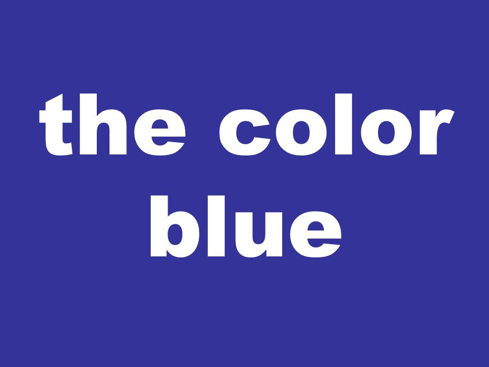 the color blue