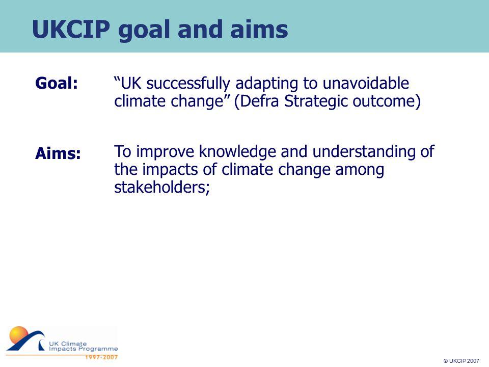 © UKCIP 2007 © UKCIP 2006 Climate change scenarios: UKCIP02 eg c hanges in seasonal average precipitation in UK WinterSummer