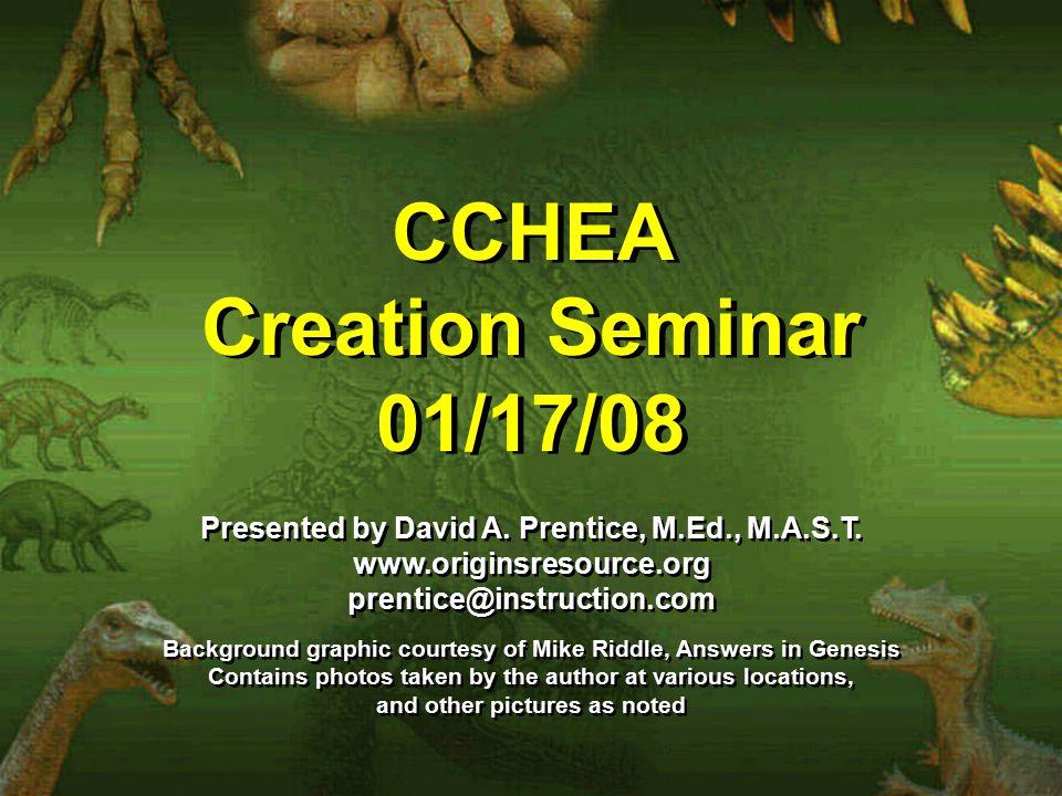 CCHEA Creation Seminar 01/17/08 CCHEA Creation Seminar 01/17/08 Presented by David A.