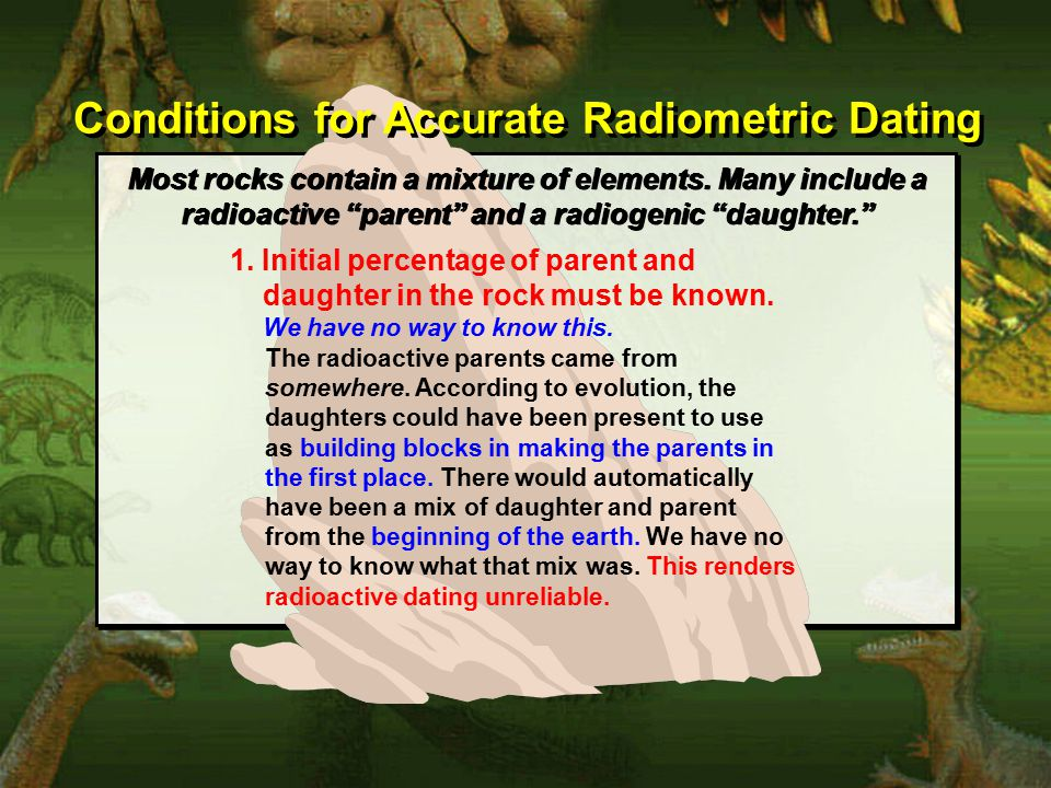 Conditions for Accurate Radiometric Dating 1.