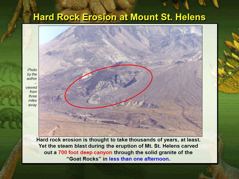 Hard Rock Erosion at Mount St.