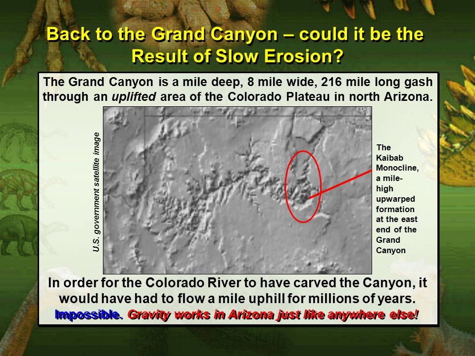 Back to the Grand Canyon – could it be the Result of Slow Erosion.