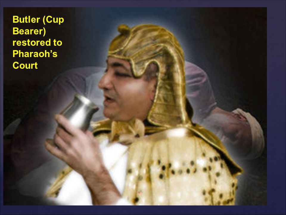 Butler (Cup Bearer) restored to Pharaoh's Court