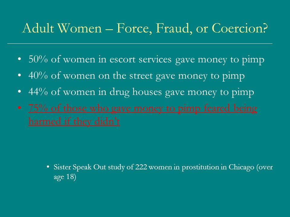 Adult Women – Force, Fraud, or Coercion.