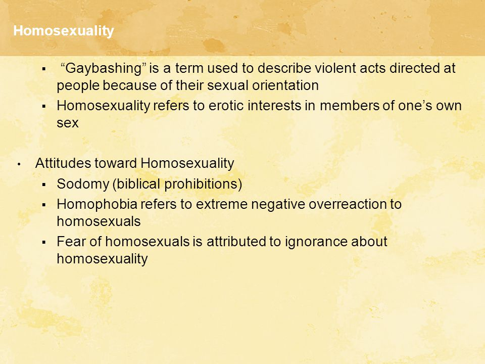 Homosexuality Homosexuality and the Law  Homosexuality is no longer a crime in the U.S.
