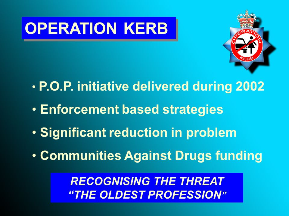 ASSESSMENT Traditional Enforcement Activity Kerb Crawler Warning Letters Kerb Crawler Enforcement Pyramid