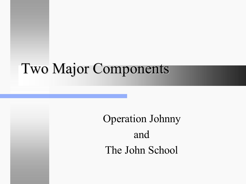 Two Major Components Operation Johnny and The John School