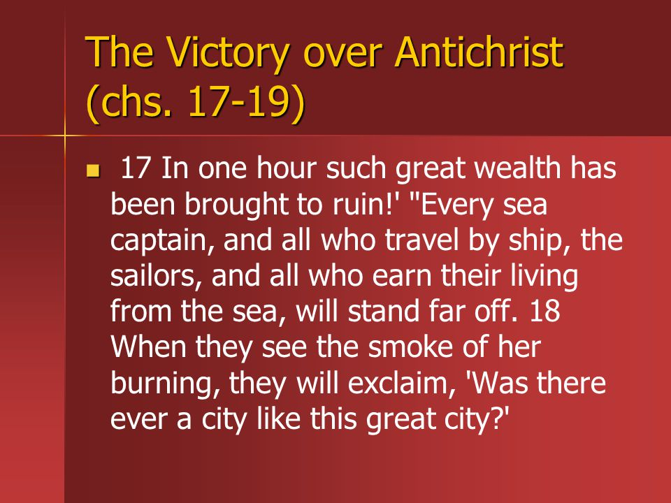 The Victory over Antichrist (chs.