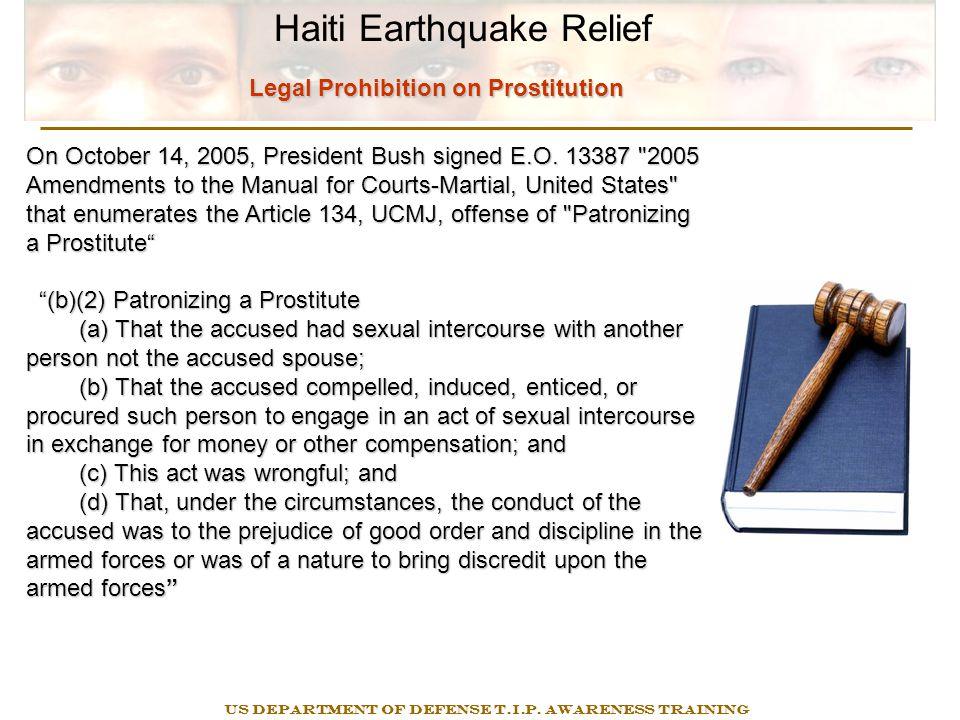 MEJA 2000 DoD Civilians/Contractors Haiti Earthquake Relief US DEPARTMENT OF DEFENSE T.I.P.